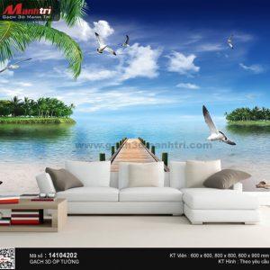 Gạch 3D Biển Xanh Mạnh Trí 14104202