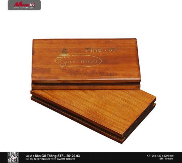 Sàn gỗ thông STFL-25120-03