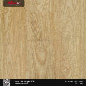 Sàn nhựa giả gỗ 3K Vinyl C2091