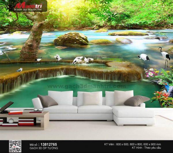 Gạch 3D Suối Thác Đá Mạnh Trí 13812765
