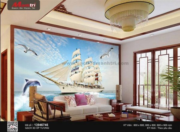 Gạch 3D Thuận Buồm Xuôi Gió Mạnh Trí 13946745