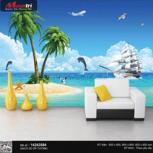 Gạch 3D Thuận Buồm Xuôi Gió Mạnh Trí 14243584