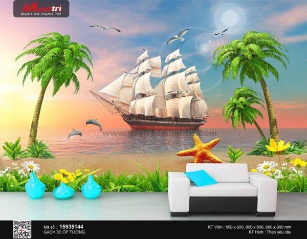 Gạch 3D Thuận Buồm Xuôi Gió Mạnh Trí 15935144