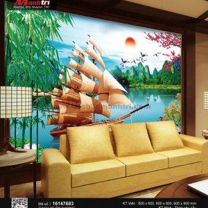 Gạch 3D Thuận Buồm Xuôi Gió Mạnh Trí 16147683