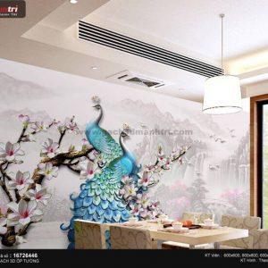 Gạch 3D Chim Công Mạnh Trí 16726446
