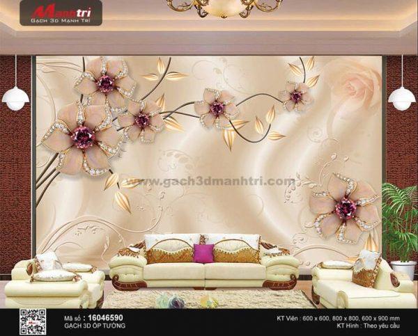 Gạch 3D Hoa Trang Sức Mạnh Trí 16046590