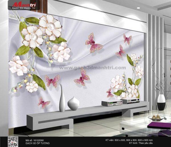 Gạch 3D Hoa Trang Sức Mạnh Trí 16102090