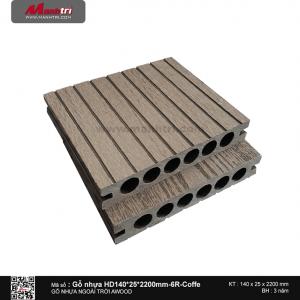 gỗ nhựa HD 140 x 25 x 2200 6R Cafe