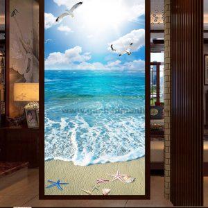 Gạch 3D biển xanh 15605865