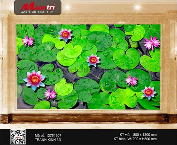 Gạch 3D hồ sen 13761307
