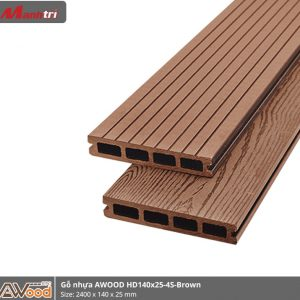 Gỗ nhựa HD 140 x 25 x 2000 Red Brown