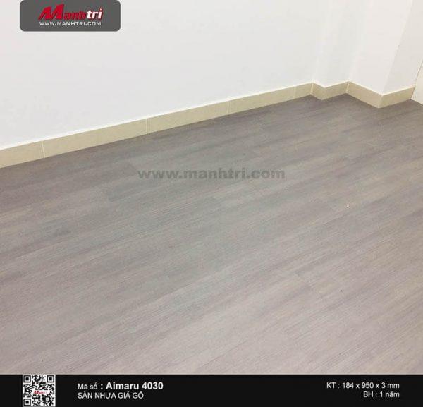 Sàn nhựa Aimaru 4030 sau khi được lắp đặt