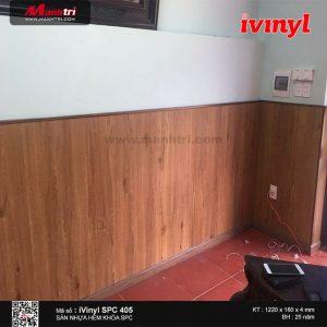 sàn nhựa iVinyl SPC 405 ốp tường