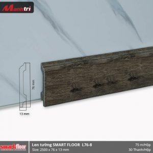 Len chân tường nhựa sàn gỗ L76-8