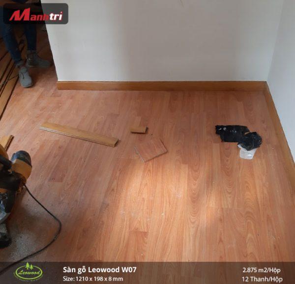 sàn gỗ hèm khóa leowood W07W07