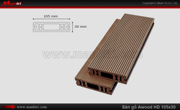sàn gỗ Awood HD 105 x 30 Coffee