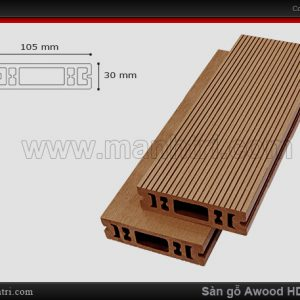 sàn gỗ Awood HD 105 x 30 Wood