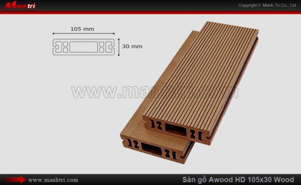 sàn gỗ Awood HD 105 x 30 Wood