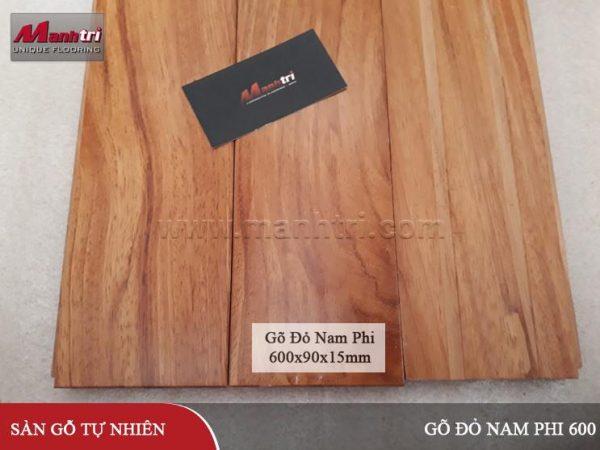 Sàn gỗ Gõ Đỏ Nam Phi 600