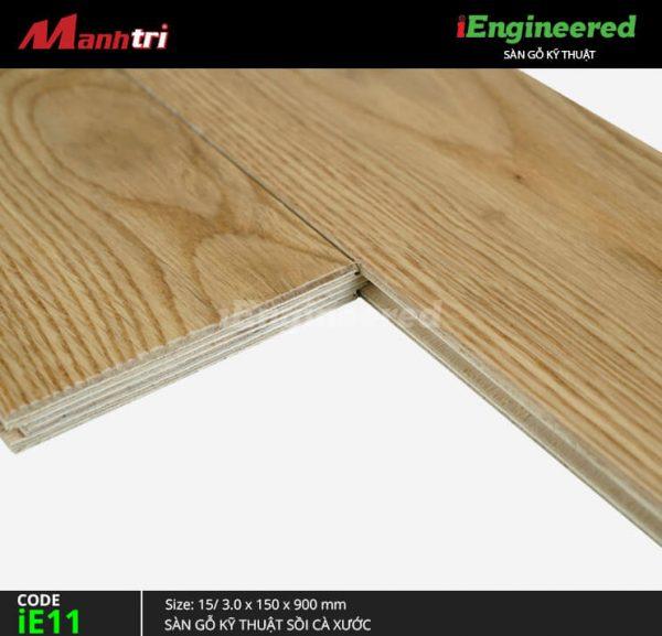 sàn gỗ kỹ thuật sồi cà xước ie11