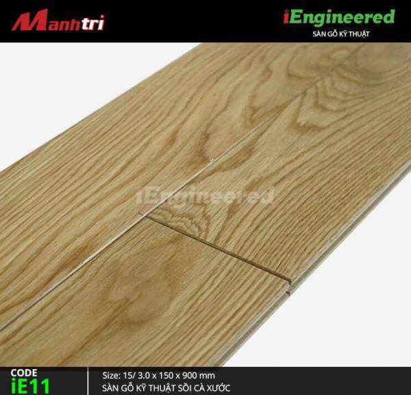 sàn gỗ kỹ thuật sồi cá xước ienginee ie11