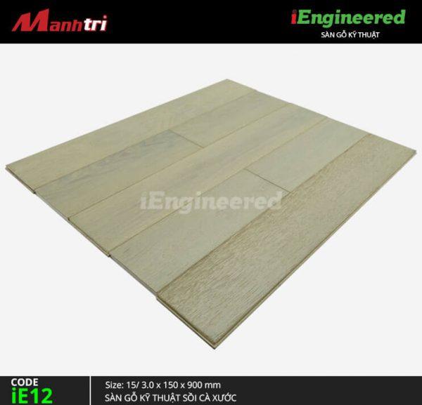 sàn gỗ kỹ thuật sồi cá xước ienginee ie12