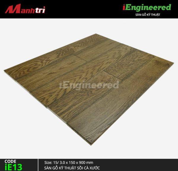 Sàn gỗ kỹ thuật sồi cà xước ie13
