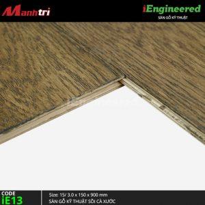 sàn gỗ kỹ thuật sồi cá xước ienginee ie13 e
