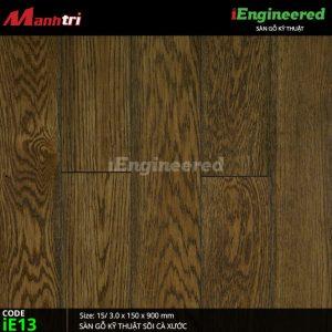 sàn gỗ kỹ thuật sồi cá xước ienginee ie13