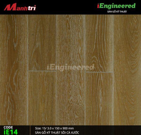 sàn gỗ kỹ thuật sồi cá xước ienginee ie14