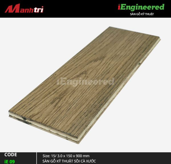 Sàn gỗ sồi cà xước iEngineer ie 09