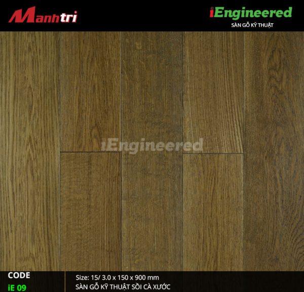 sàn gỗ kỹ thuật sồi cá xước ienginee ie09