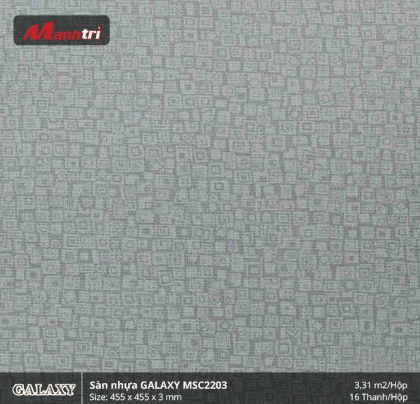Sàn nhựa vân thảm Galaxy MSC 2203