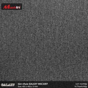 Sàn nhựa vân thảm Galaxy MSC 2207