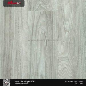 Sàn nhựa giả gỗ 3K Vinyl C2092