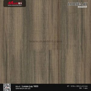 Sàn nhựa giả gỗ Loose-Lay 1633