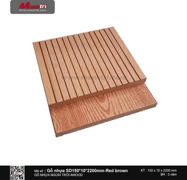 Gỗ ốp tường SD150x10 Red brown