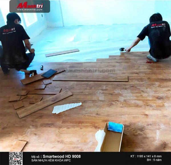 sàn nhựa hèm khóa Smartwood HD 9008