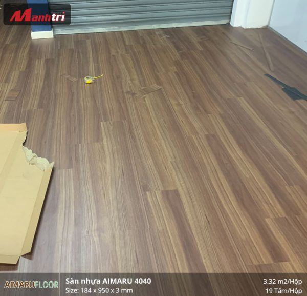 thi công sàn nhựa aimaru 4040 5