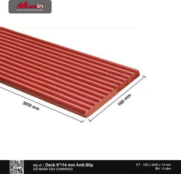 "Sàn gỗ CONWOOD Deck6""14mm Anti-Slip"