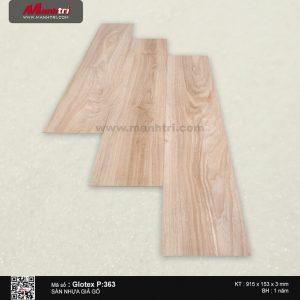 Sàn nhựa giả gỗ Glotex P:363