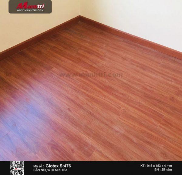 sàn nhựa Hèm khóa Glotex S:476