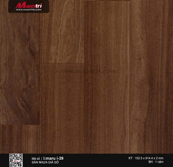 Sàn nhựa giả gỗ i:maru i-39
