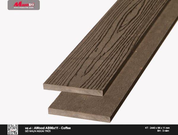 Ốp trần Awood AB96X11 - Coffee