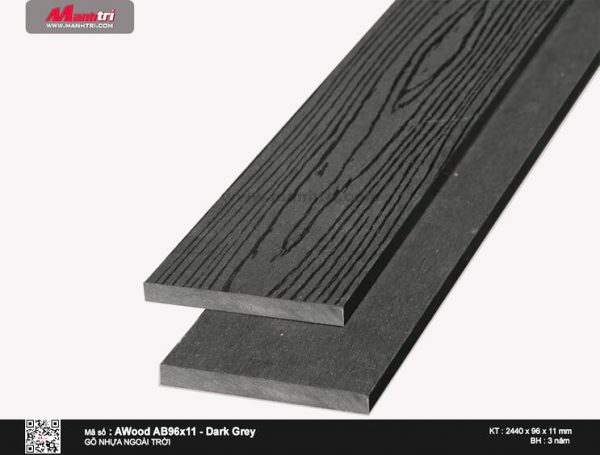 Ốp trần Awood AB96X11-Dark Grey