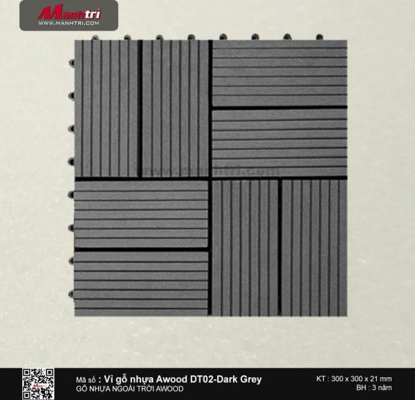 Vỉ nhựa Awood DT02-Dark Grey