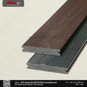 Gỗ nhựa Sandalwood mã 140 x 23 Red