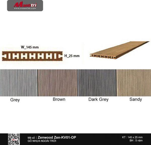 Gỗ nhựa Zenwood Zen-KV01-OP