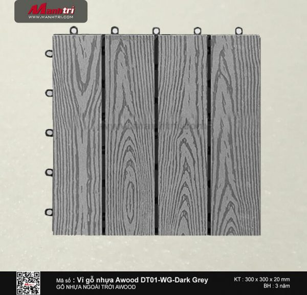 Vỉ nhựa Awood DT01-WG-Dark Grey