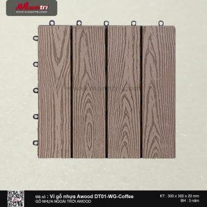 Vỉ nhựa Awood DT01-WG-Coffee